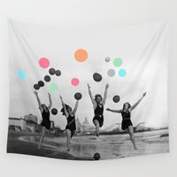 women Wall Tapestries featuring Vintage Women by 83 Oranges™