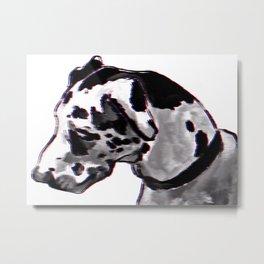 3D Doggo Metal Print