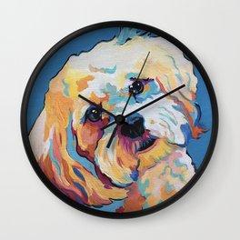 Maltipoo, Cavapoo, Cavachon, Cockerpoo, Mix Breed Custom Pop Art Pet Portrait Wall Clock