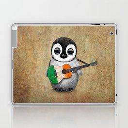 Baby Penguin Playing Irish Flag Guitar Laptop & iPad Skin