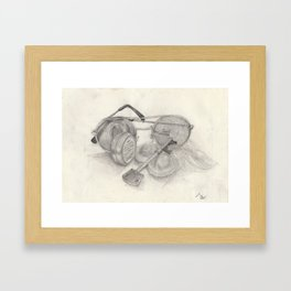 Class Of Aspiring Middle Aged And Above Artists Framed Art Print