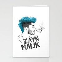 zayn malik Stationery Cards featuring Zayn Malik by artisticfanny