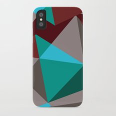 Triangle cubes iPhone X Slim Case