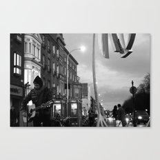 Waiting.. [Black & White] Canvas Print