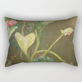 Lilly and Camelia pastel painting Rectangular Pillow