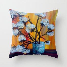 Bouquet of Cotton Throw Pillow