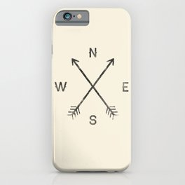 Compass (Natural) iPhone Case