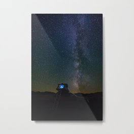 Camping Out Under the Stars and Dreaming of the Milky Way Metal Print