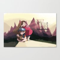 gravity falls Canvas Prints featuring Gravity Falls by Hikkaphobia