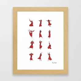 Kate Bush - Wuthering Heights Dance Routine Framed Art Print
