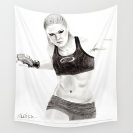Rowdy Rousey Wall Tapestry