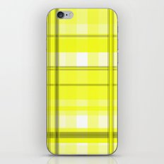 Yellow White and Gray Plaid iPhone Skin