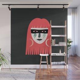 Lightning Bolt Girl Wall Mural