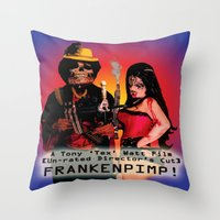 movie poster Throw Pillows featuring Frankenpimp (2009) - Movie Poster by Tex Watt