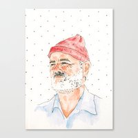 bill murray Canvas Prints featuring Bill Murray by Andrea makes cool stuff