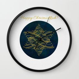 Happy Chrismukkah! Wall Clock