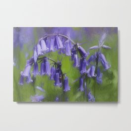 Bluebell Arch Metal Print