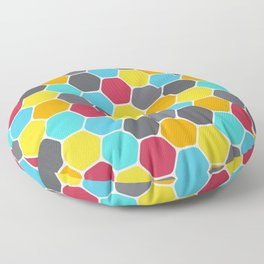 Honeycombs and colours Floor Pillow