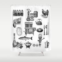 kitchen Shower Curtains featuring Kitchen Gadgets by MY  HOME