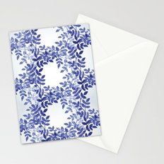 Delicate watercolor pattern with leaves Stationery Cards