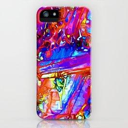 Jewel Tone Gemstone Impressions iPhone Case