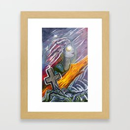 Siren of the storm Framed Art Print