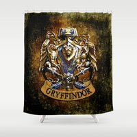 gryffindor Shower Curtains featuring Gryffindor and ravenclaw United team iPhone 4 4s 5 5c, ipod, ipad, pillow case, tshirt and mugs by Three Second