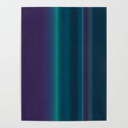 Royal Purple Aqua Stripes Poster