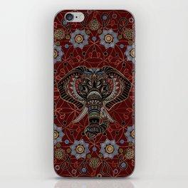 Indian Elephant in Mandala Ornament iPhone Skin
