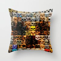 100 Painted Skulls Throw Pillow