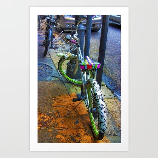 NOLA bike. Art Print