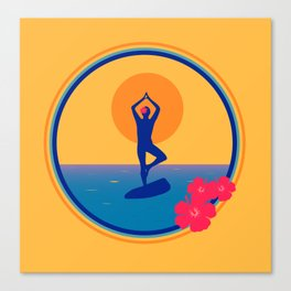 Yoga on a SUP - Paddle Board Canvas Print
