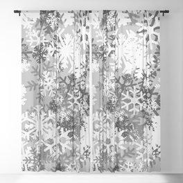 Snowflake Camo Sheer Curtain