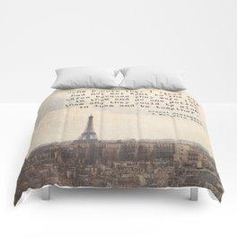 Hemingway in Paris Comforters