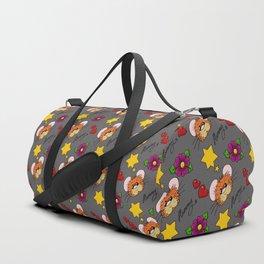 Hammy Pattern in warm Grey Duffle Bag