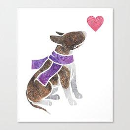 Watercolour Bull Terrier Canvas Print