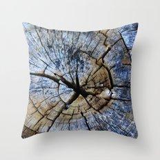 Old Elm Tree Stump Throw Pillow