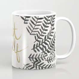 Treat Yo Self – Black & Gold Coffee Mug