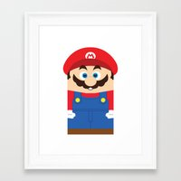 super mario Framed Art Prints featuring Super Mario by Xiao Twins