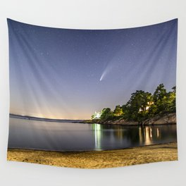 Neowise at Plum cove Beach Wall Tapestry