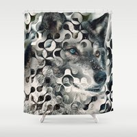 into the wild Shower Curtains featuring wild by Vin Zzep