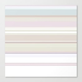Stripes and Pastels Sands of Time Pattern Canvas Print