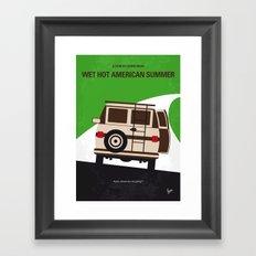No481 My Wet Hot American Summer minimal movie poster Framed Art Print