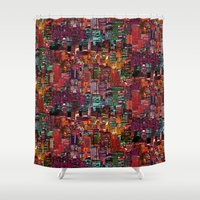 cities Shower Curtains featuring Cities on Cities by Killian Hlava
