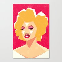 marilyn Canvas Prints featuring Marilyn by Yetiland