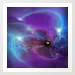 Gravitational Distort Space Abstract Art Art Print