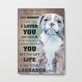 Bulldog Bulldog Love Metal Print