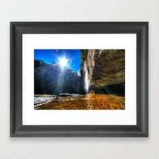 Lula Lake Waterfall Framed Art Print