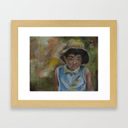 little shanghai boy Framed Art Print