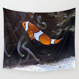 Sea Word Clownfish Wall Tapestry